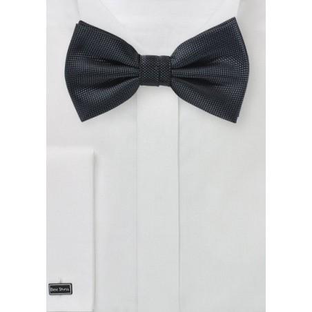 Dark Charcoal Matte Finish Bow Tie