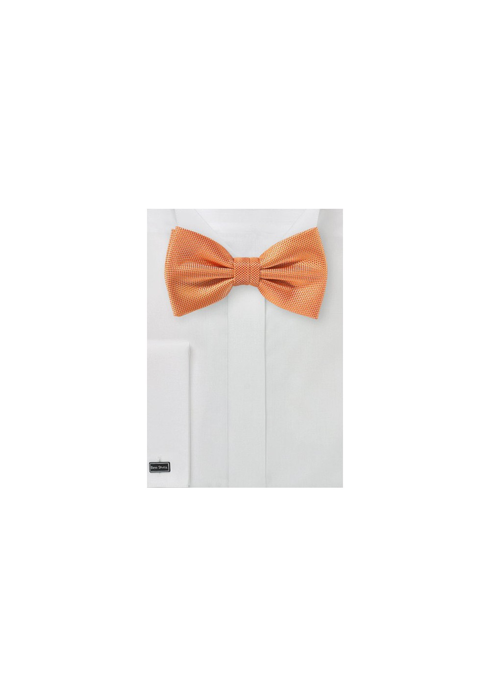 Textured Bow in Tangerine