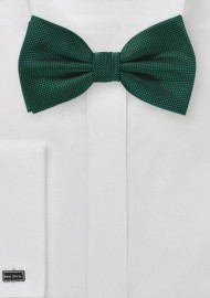 Autumn Bowtie in Hunter Green