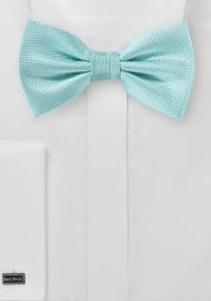 Matte Woven Bow Tie in Pool