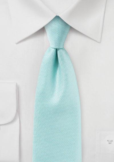 Textured Tie in Pool Blue