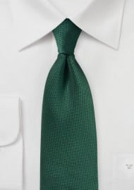 Microtexture Tie in Hunter Green