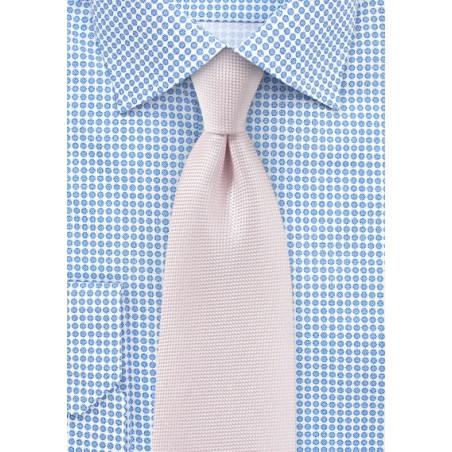 Matte Texture Necktie in Blush