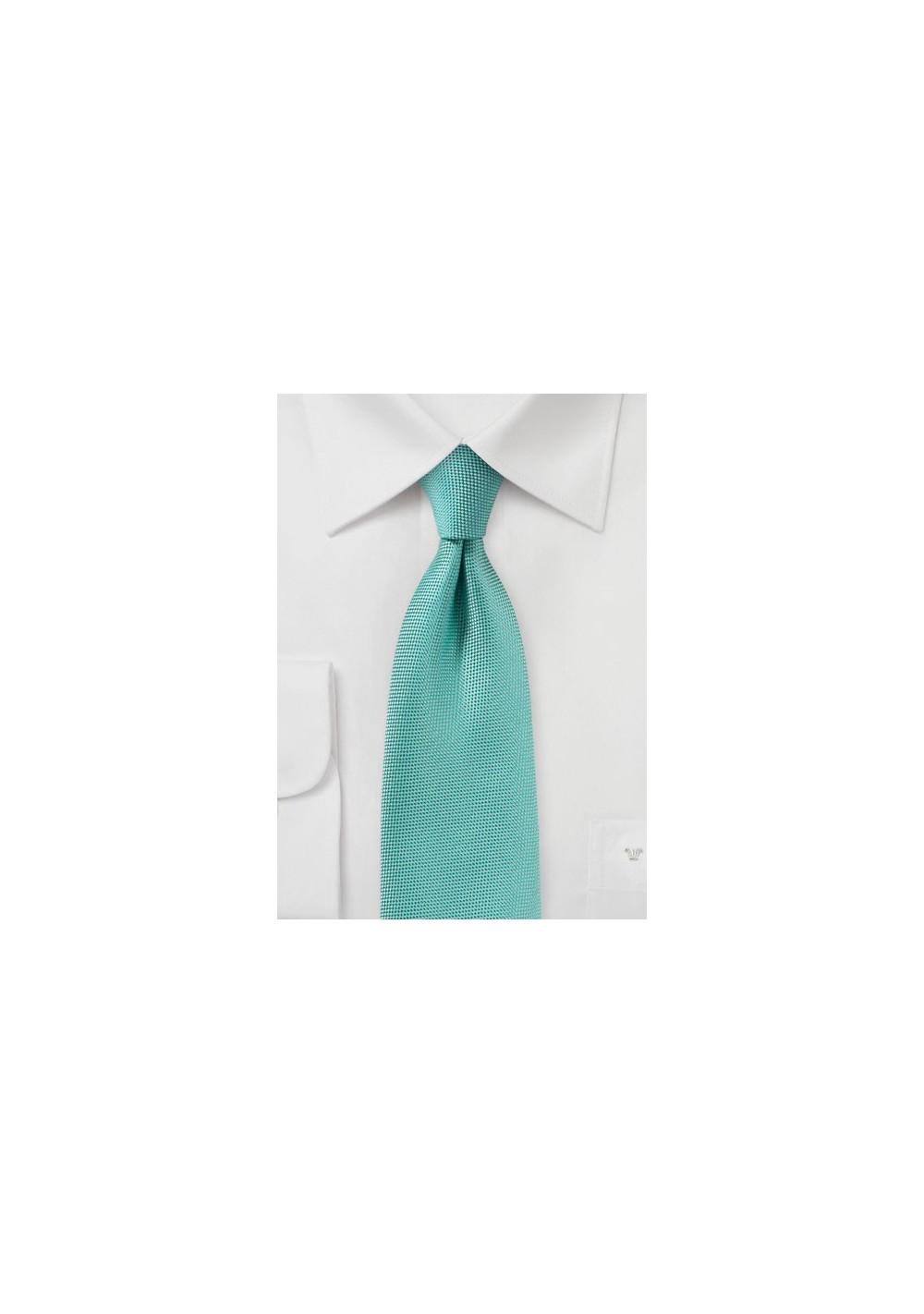 Mermaid Blue Matte Finish Tie