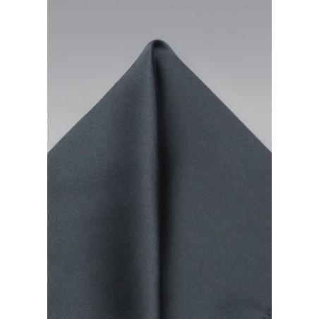 Dark Gray Satin Finish Pocket Square