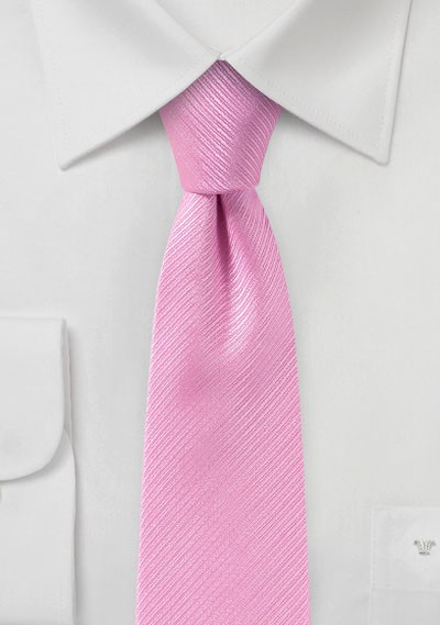 Bright Pink Slim Cut Tie