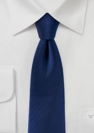 Slim Cut Tie in Classic Navy