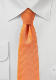 Slim Cut Mens Tie in Orange