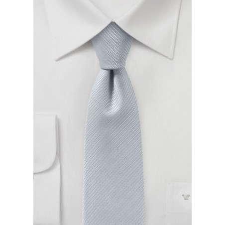 Light Silver Skinny Tie