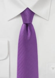 Slim Cut Tie in Bright Violet