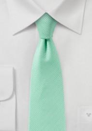 Bright Mint Texture Skinny Tie