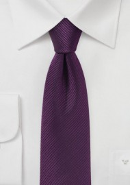 Slim Cut Tie in Plum
