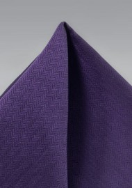 Purple Textured Pocket Square