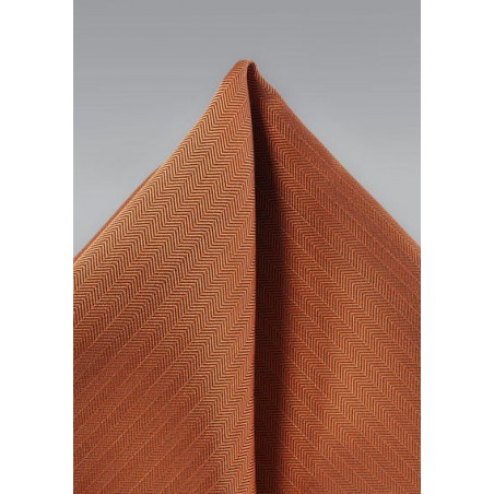 Texture Hanky in Burnt Orange