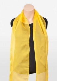 Bright Yellow Chiffon Scarf