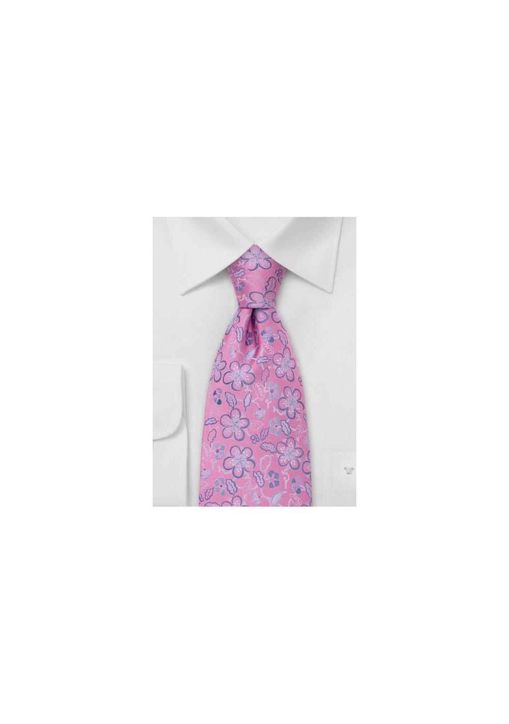 Pink Silk Tie by Chevalier