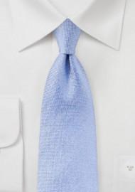 Matte Woven Silk Tie in Sky Blue