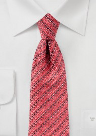 Deep Sea Coral Tie in Textured Finish