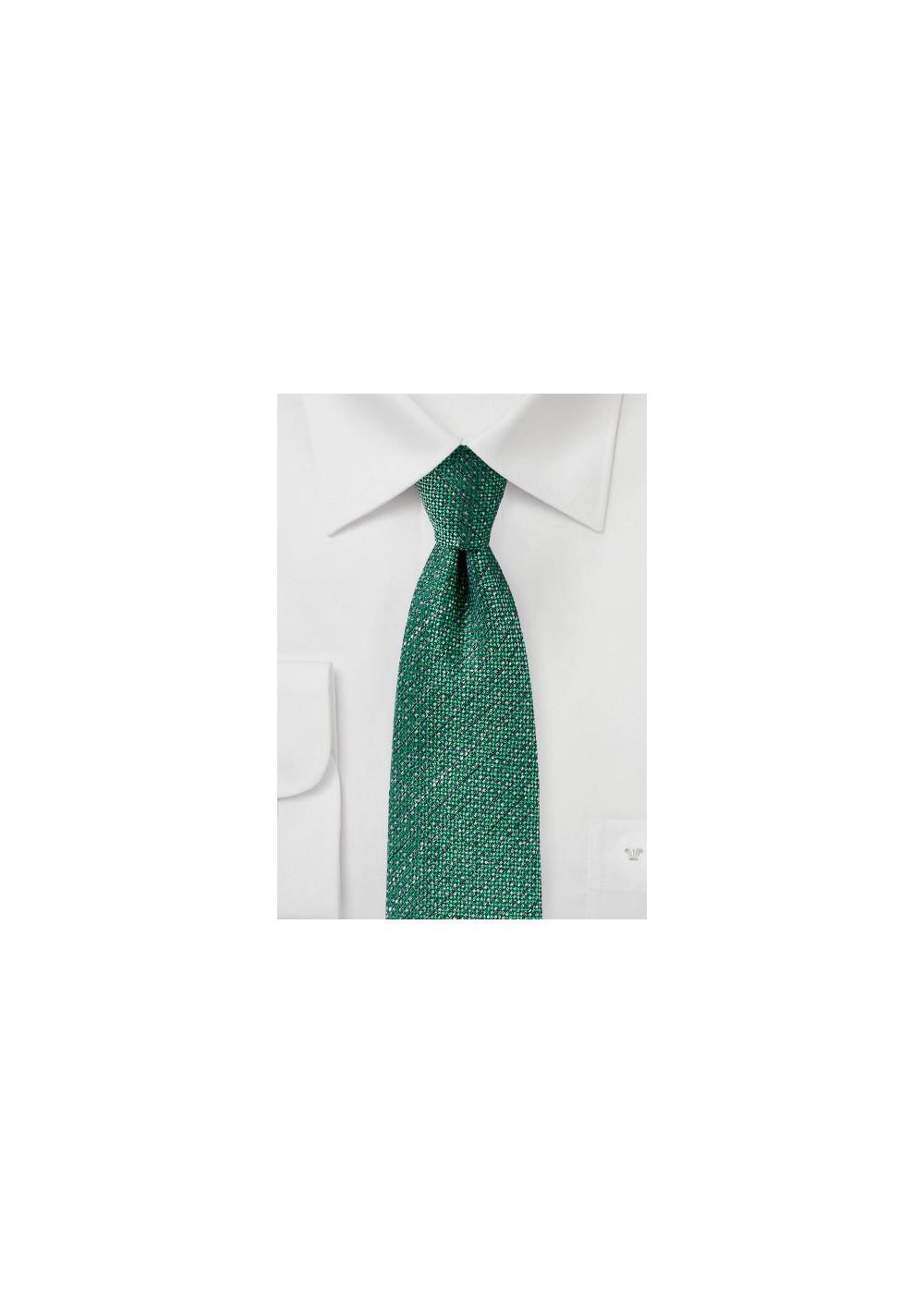 Kelly Green Tie in Recycled Yarn