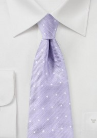 Heirloom Lilac Polka Dot Tie