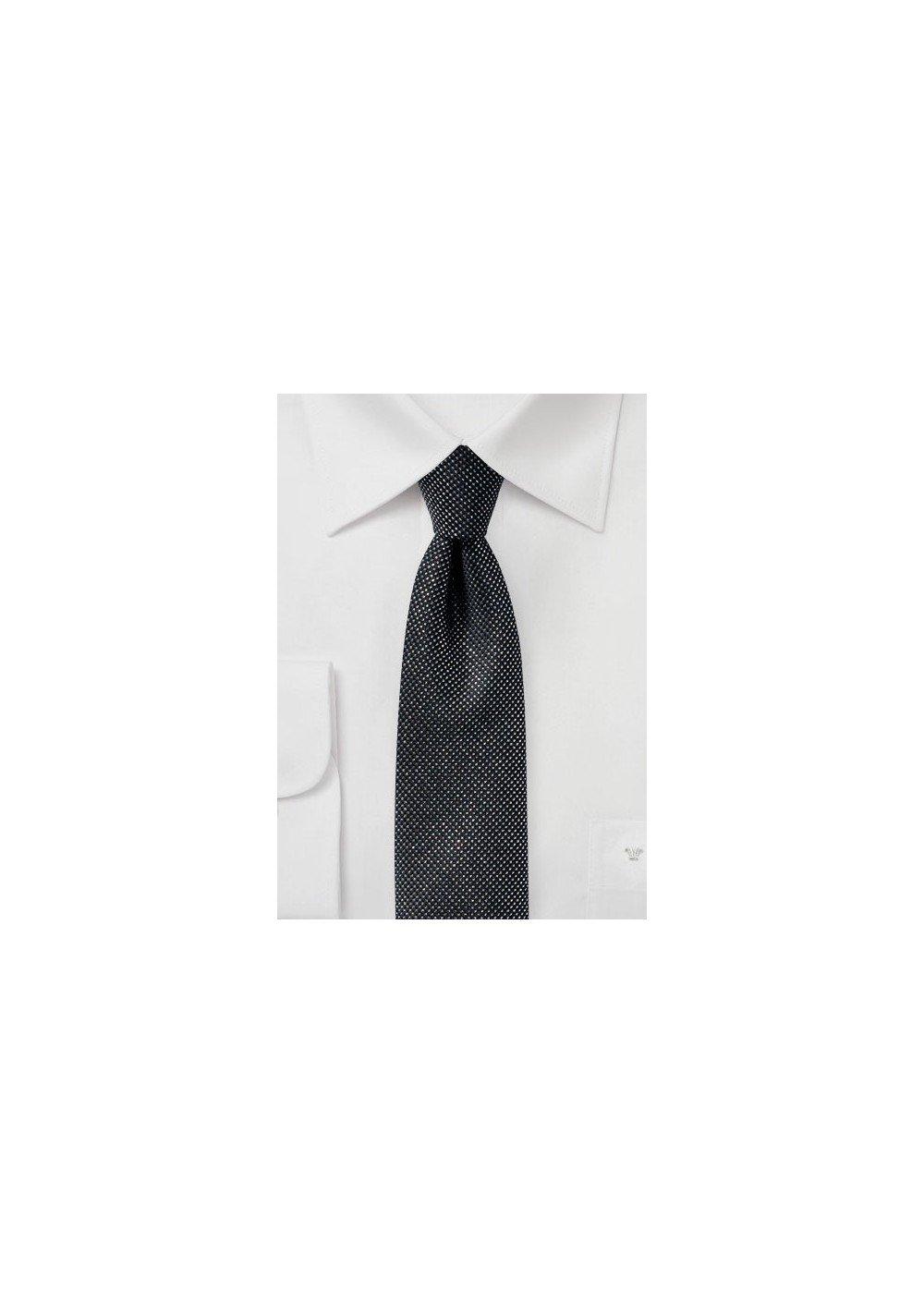 Black Skinny Tie with Metallic Sparkles