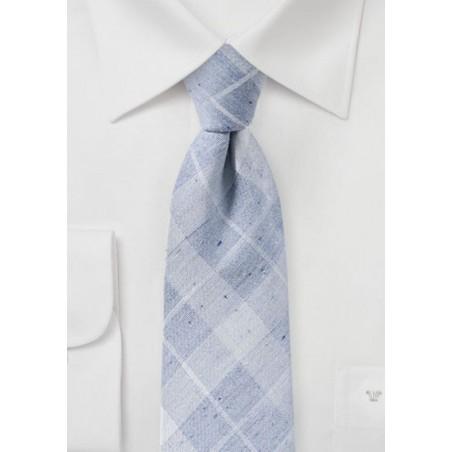 Pearl Blue Tartan Cotton Tie