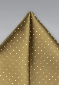 Buddha Gold Polka Dot Pocket Square