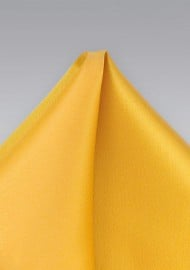 Solid Pocket Square in Amber Yellow
