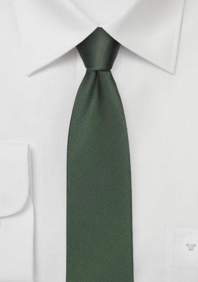 Dark Hunter Green Skinny Silk Tie