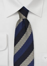 Retro Striped Tie in Blue