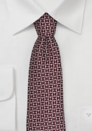 Winter Wool Tie in Deep Red