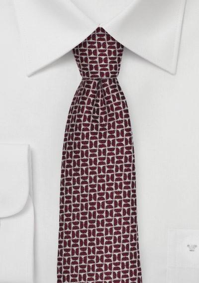 Winter Wool Tie in Deep Red