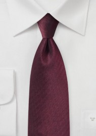 Herringbone Tie in Wine Red