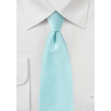Pool Blue Textured Tie