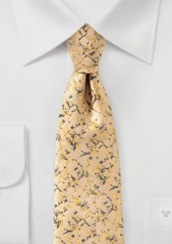 Golden Yellow and Gray Designer Tie