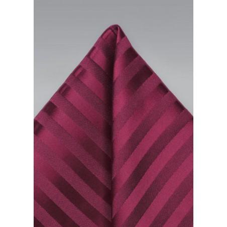 Burgundy Striped Pocket Square