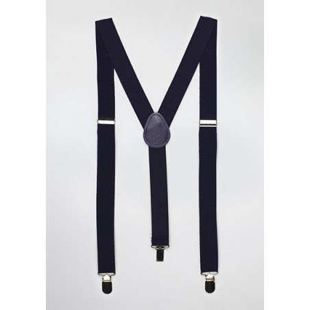 Elastic Band Suspenders in Classic Navy