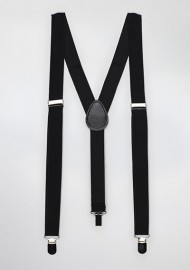 Formal Jet Black Suspenders