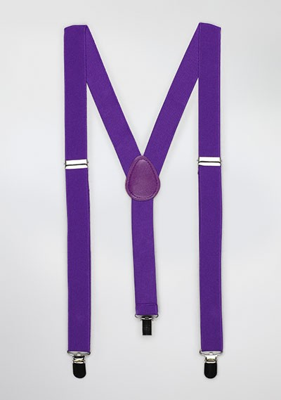 Mens Suspenders in Freesia Purple