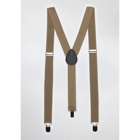 Light Brown Elastic Band Suspenders