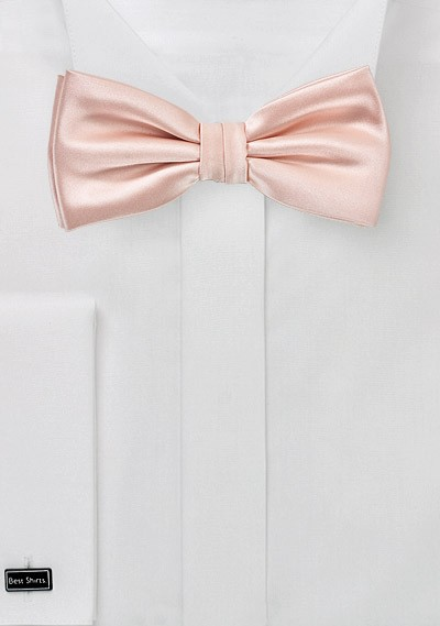 Kids Bow Tie in Peach Blush