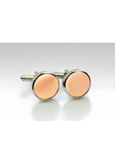 Cufflinks in Peach Apricot