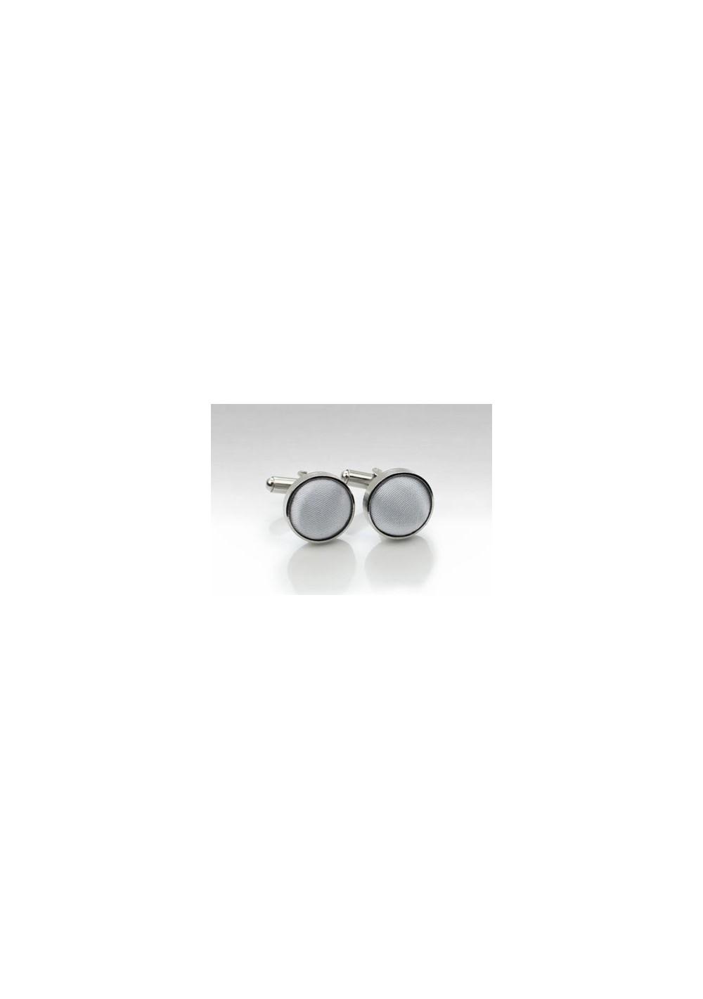 Silver Fabric Cufflinks