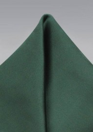 Solid Pine Green Pocket Square