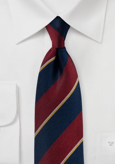 Matte Striped Regimental Silk Tie