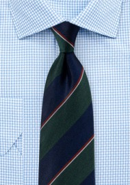 Classic Regimental Tie in Matte Woven Finish