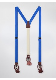Marine Blue Fabric Suspenders