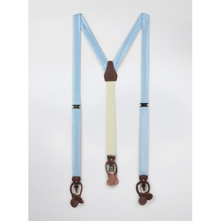 Light Blue Mens Fabric Suspenders