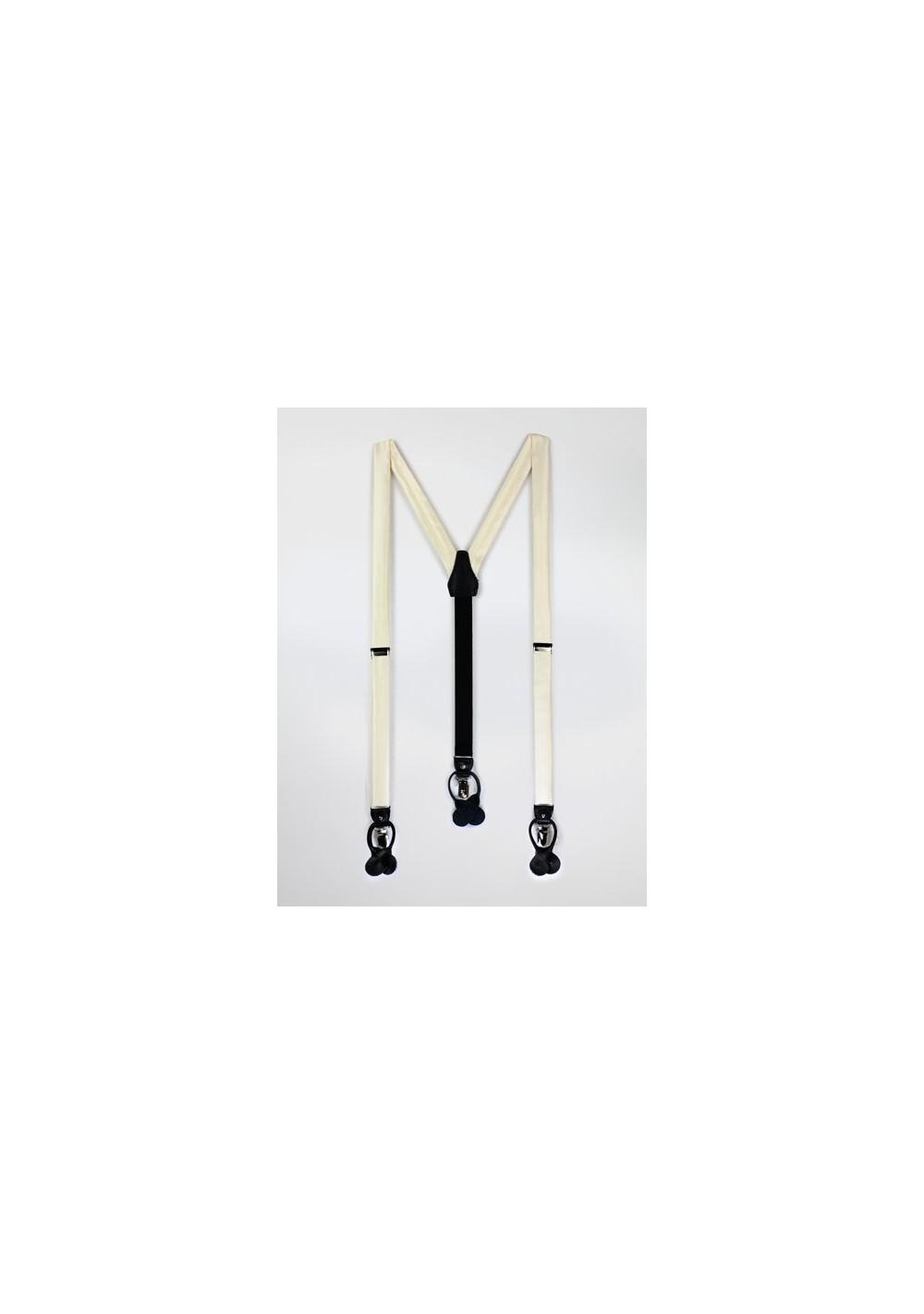 Light Cream Fabric Dress Suspenders