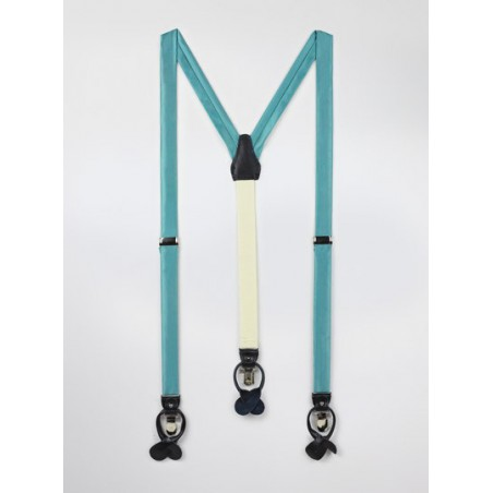Teal Colored Fabric Suspenders